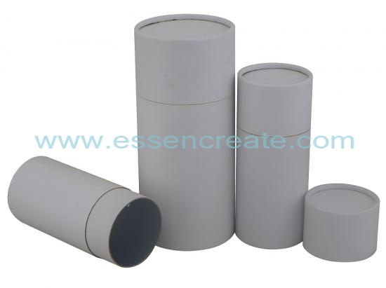 White Rolled Edge Packing Paper Tube