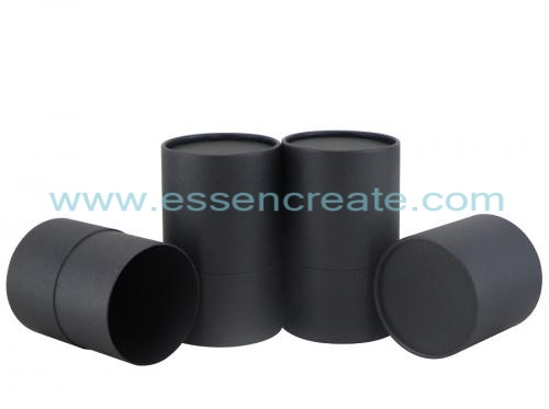 Complete Black Rolled Edge Paper Tube